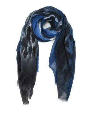 AVANT-TOI: Stole & Scialli - Stola in misto cashmere blu e nero