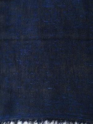 Avant Toi: Stoles & Shawls online - Indigo hand painted linen stole