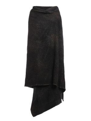 Avant Toi: Stoles & Shawls - Oversize boucle studded shawl