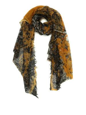Avant Toi: Stoles & Shawls - Printed fine cashmere stole