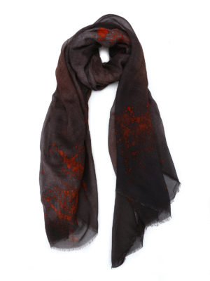 Avant Toi: Stoles & Shawls - Rusty effect cashmere blend shawl