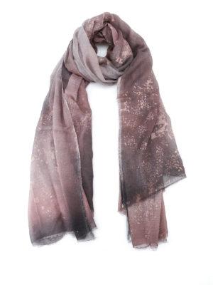 Avant Toi: Stoles & Shawls - Rusty effect cashmere modal shawl