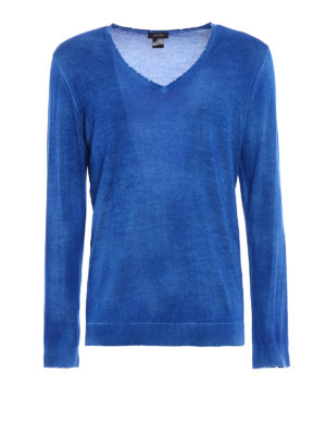Avant Toi: v necks - Cashmere and silk destroyed sweater