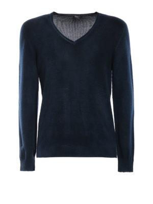 AVANT-TOI: maglia collo a v - Pull slim in cashmere verniciato velvet