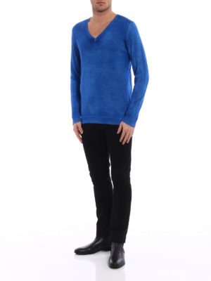 Avant Toi: v necks online - Cashmere and silk destroyed sweater