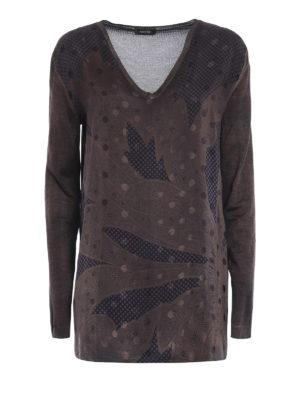 Avant Toi: v necks - Silk panelled oversize top