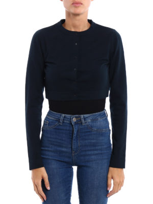 Azzedine Alaia: cardigans online - Wool blend cropped cardigan