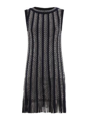 Azzedine Alaia: knee length dresses - Gladiator striped dress