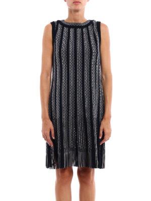 Azzedine Alaia: knee length dresses online - Gladiator striped dress