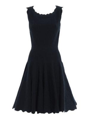 Azzedine Alaia: short dresses - Embossed sleeveless dress