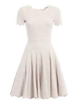 Azzedine Alaia: short dresses - Embossed wool blend dress