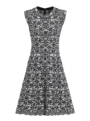 Azzedine Alaia: short dresses - Jacquard sleeveless flared dress