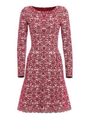 Azzedine Alaia: short dresses - Jacquard wool blend flared dress