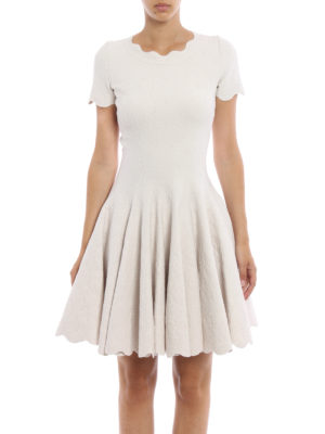 Azzedine Alaia: short dresses online - Embossed wool blend dress