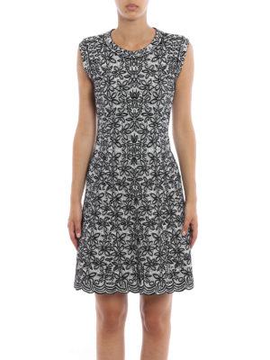 Azzedine Alaia: short dresses online - Jacquard sleeveless flared dress