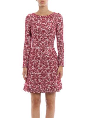 Azzedine Alaia: short dresses online - Jacquard wool blend flared dress