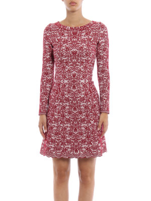 Azzedine Alaia: short dresses online - Jacquard wool blend flared dress