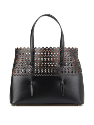 Azzedine Alaia: totes bags - Cut out detailed leather tote