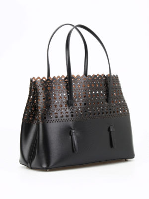 Azzedine Alaia: totes bags online - Cut out detailed leather tote