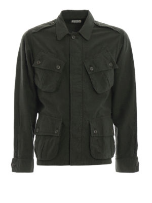 BAGUTTA: giacche casual - Giacca camicia in cotone felpato verdone