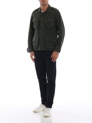 BAGUTTA: giacche casual online - Giacca camicia in cotone felpato verdone