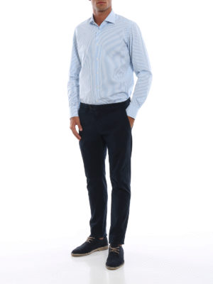 BAGUTTA: camicie online - Camicia in cotone a righe by Thomas Mason®