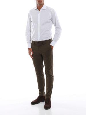 BAGUTTA: camicie online - Camicia bianca in cotone stretch jacquard