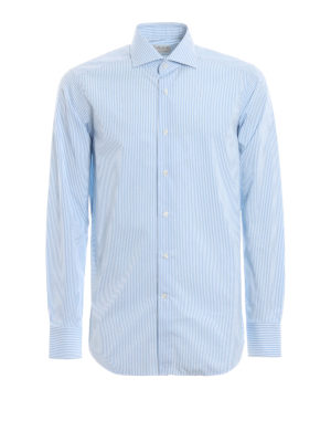 BAGUTTA: camicie - Camicia in cotone a righe by Thomas Mason®