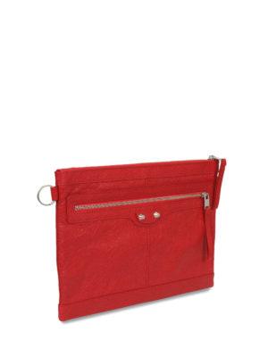 Balenciaga: clutches online - Clip M leather clutch