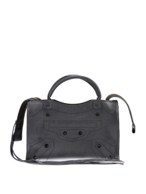 Balenciaga: cross body bags - Blackout City extra small bag