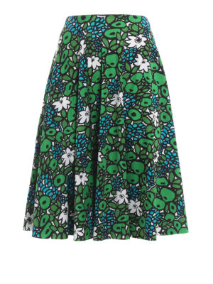 Balenciaga: Knee length skirts & Midi - Patterned cady flared skirt