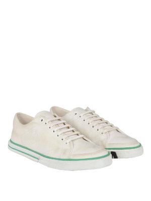 BALENCIAGA: sneakers online - Sneaker in tela di cotone effetto sporco