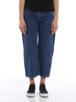 Balenciaga: straight leg jeans online - Rockabilly denim jeans