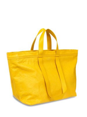 Balenciaga: totes bags online - Vintage effect leather medium tote