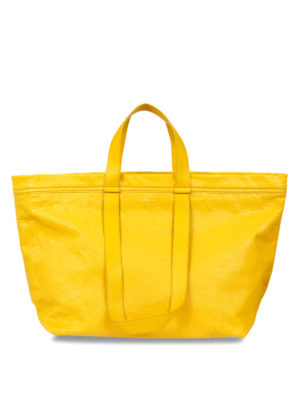 Balenciaga: totes bags - Vintage effect leather medium tote