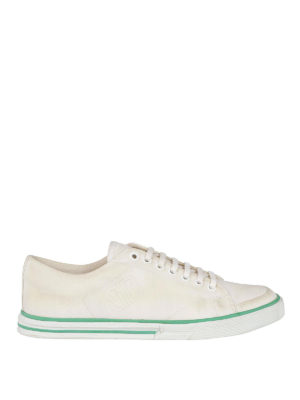 BALENCIAGA: sneakers - Sneaker in tela di cotone effetto sporco