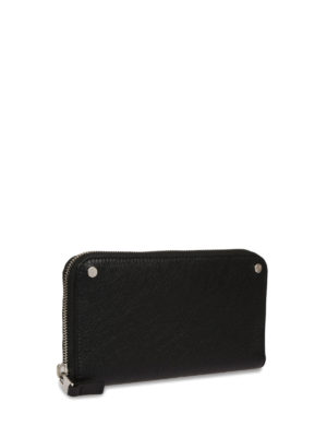 Balenciaga: wallets & purses online - Vintage effect leather zip wallet