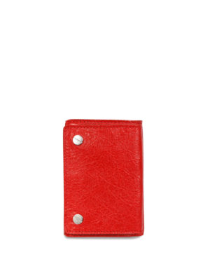 Balenciaga: wallets & purses - Vintage effect leather wallet