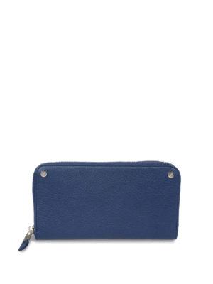 Balenciaga: wallets & purses - Vintage effect leather zip wallet