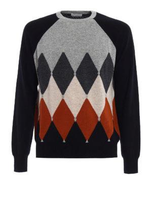 Ballantyne: crew necks - Cashmere argyle intarsia sweater
