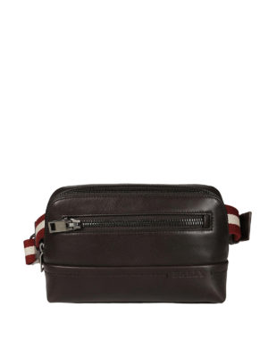 Bally: belt bags - Twing brown leather bum bag