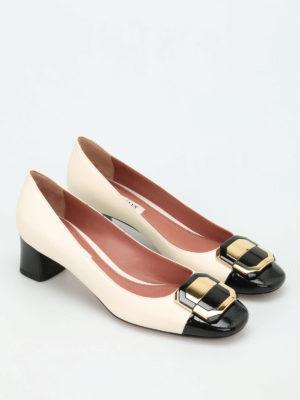 Bally: court shoes online - Bergitta bicolour court shoes