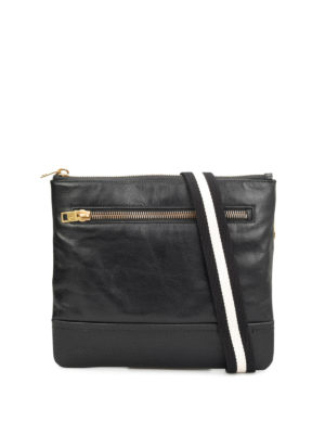 Bally: cross body bags - Leather square cross body bag