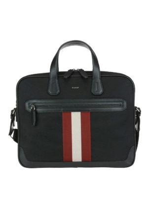 BALLY: borse da ufficio - Valigetta Chandos piccola in nylon e pelle