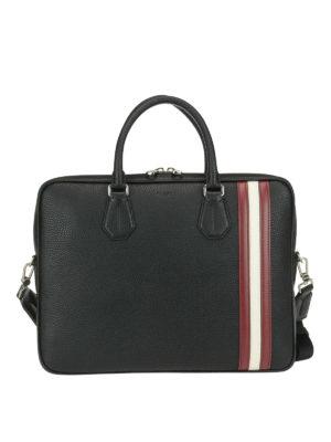 BALLY: borse da ufficio - Borsa da ufficio Staz nera in pelle