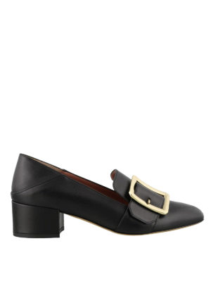 BALLY: Mocassini e slippers - Mocassini Janelle neri con fibbia