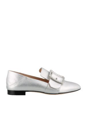 BALLY: Loafers & Slippers - Janelle crystal buckle slippers