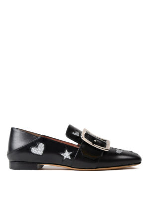 Bally: Loafers & Slippers - Janelle glitter hearts loafers
