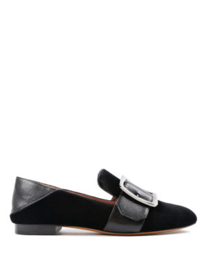 Bally: Loafers & Slippers - Janelle-T velvet slippers