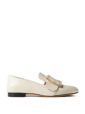 Bally: Loafers & Slippers - Janelle white leather loafers